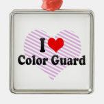 Amo al guardia de honor ornamento de navidad