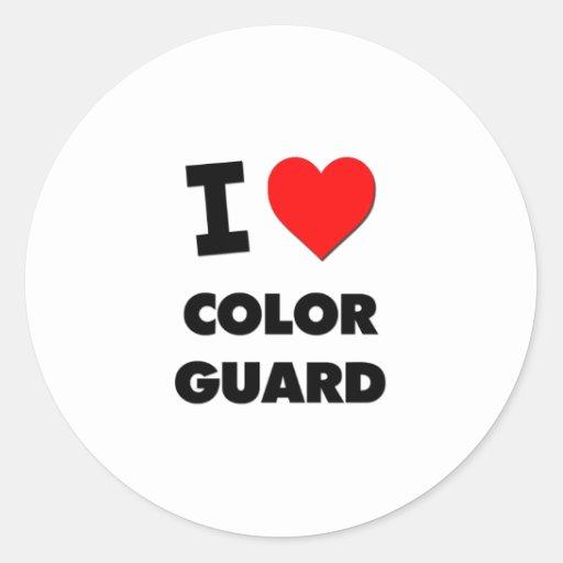 Amo al guardia de honor pegatina redonda