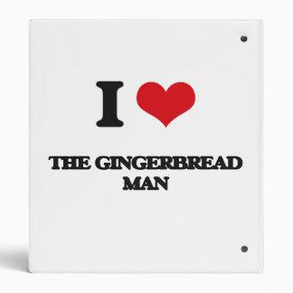 Amo al hombre de pan de jengibre carpeta 2,5 cm