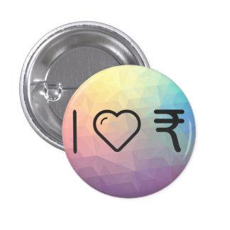 Amo al indio Currencys Pin Redondo De 1 Pulgada