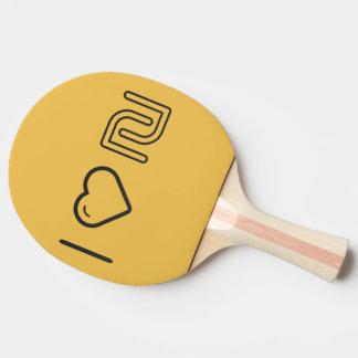 Amo al israelí Currencys Pala De Ping Pong