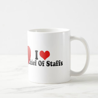 Amo al jefe de personal taza de café