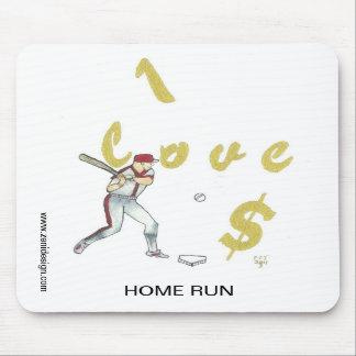 Amo al jugador de béisbol Mousepad del dinero