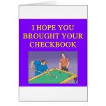 amo al jugador de billares tarjetas