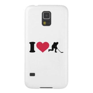 Amo al jugador de hockey carcasa de galaxy s5
