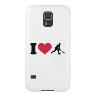 Amo al jugador de hockey hierba carcasas para galaxy s5
