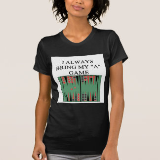 amo al jugador del backgammon camiseta
