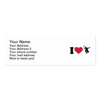 Amo al jugador del bádminton tarjetas de visita mini