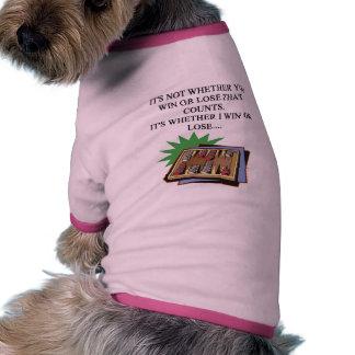 amo al jugador del bakgammon camiseta de perro