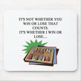 amo al jugador del bakgammon tapete de ratón