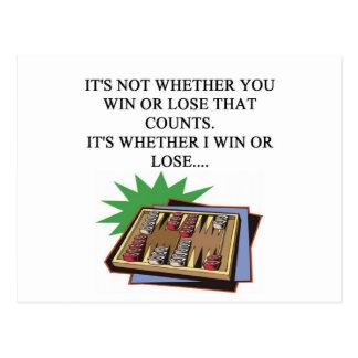 amo al jugador del bakgammon postal