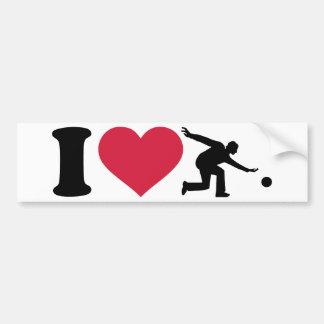 Amo al jugador que rueda etiqueta de parachoque