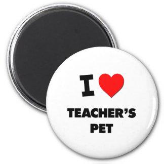 Amo al mascota de los profesores imán redondo 5 cm