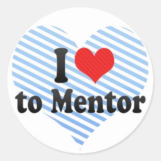 Amo al mentor pegatina redonda