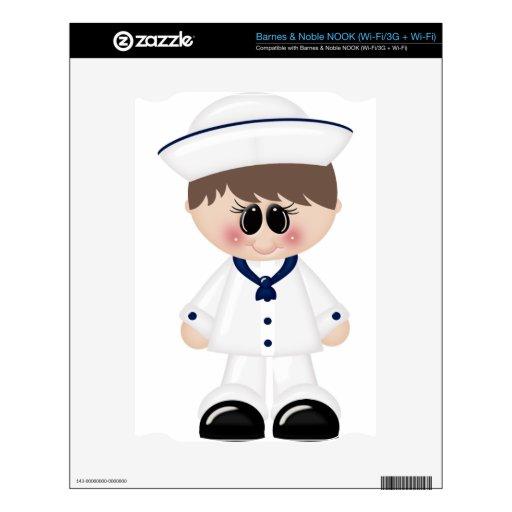 Amo al muchacho de marinero del mar calcomanía para el NOOK