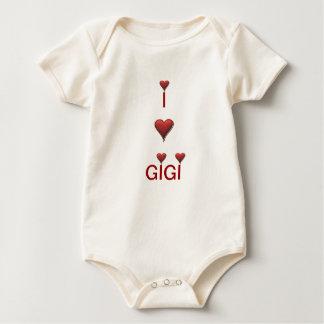 Amo al niño del bebé de Gigi Body De Bebé