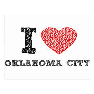 Amo al Oklahoma City Tarjeta Postal