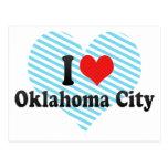 Amo al Oklahoma City Tarjetas Postales