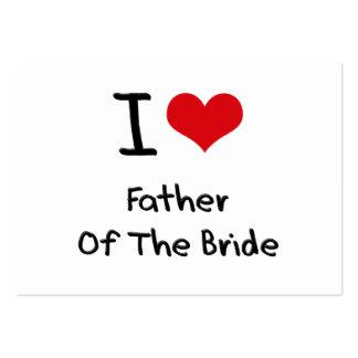 Amo al padre de la novia plantilla de tarjeta de visita