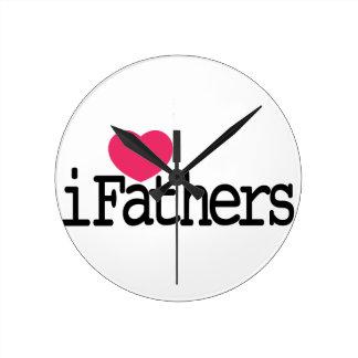 Amo al padre reloj redondo mediano
