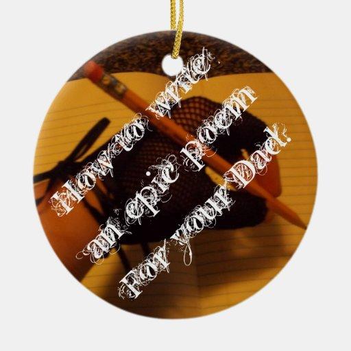amo al papá adorno navideño redondo de cerámica