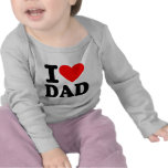 Amo al papá camisetas
