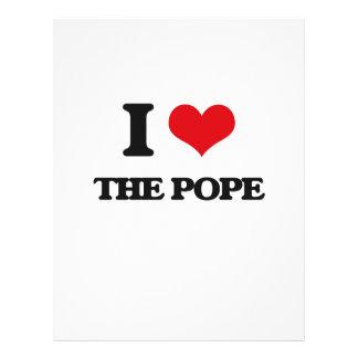 """Amo al papa folleto 8.5"""" x 11"""""""