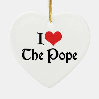 Amo al papa Ornament Adorno Navideño De Cerámica En Forma De Corazón
