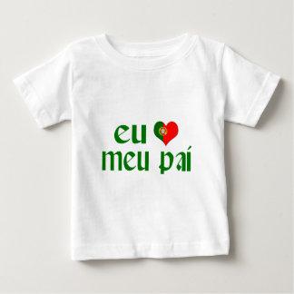 Amo al papá - portugués playera