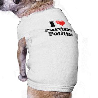 AMO al PARTIDARIO POLITICS png Ropa Perro