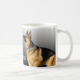 Amo al pastor alemán de la abuela taza de café