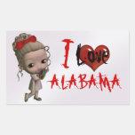Amo al pegatina de Alabama