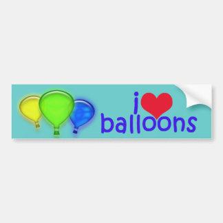 Amo al pegatina de Balloons_Bumper Etiqueta De Parachoque