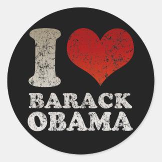 Amo al pegatina de Barack Obama