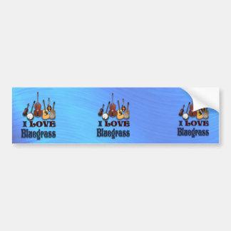 AMO AL PEGATINA DE BLUEGRASS-BUMPER PEGATINA DE PARACHOQUE