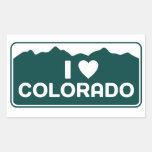 Amo al pegatina de Colorado