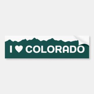 Amo al pegatina de Colorado Pegatina Para Auto