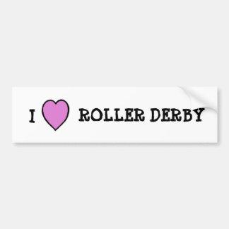 Amo al pegatina de Derby del rodillo Pegatina Para Auto