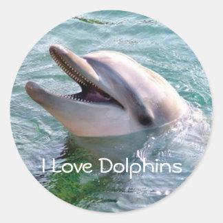 Amo al pegatina de Dophins