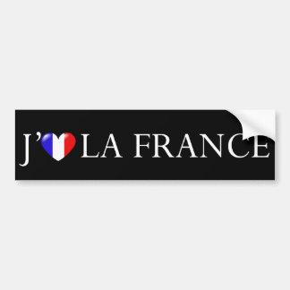 Amo al pegatina de Francia Etiqueta De Parachoque