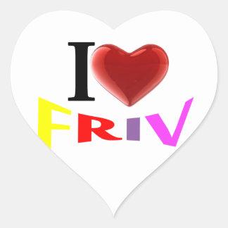Amo al pegatina de Friv