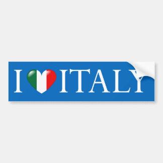 Amo al pegatina de Italia Etiqueta De Parachoque
