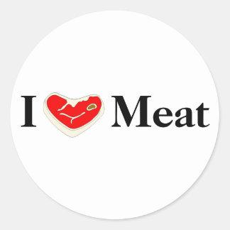 Amo al pegatina de la carne