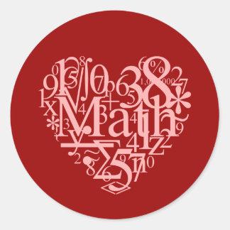 Amo al pegatina de la matemáticas