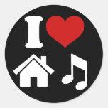 Amo al pegatina de la música de la casa