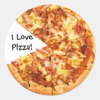 Amo al pegatina de la pizza