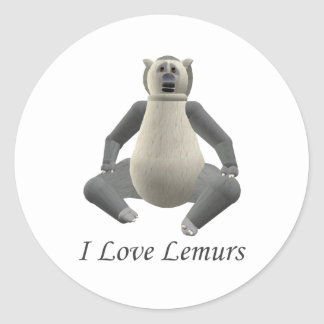Amo al pegatina de los Lemurs