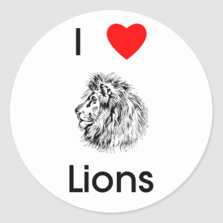 Amo al pegatina de los leones