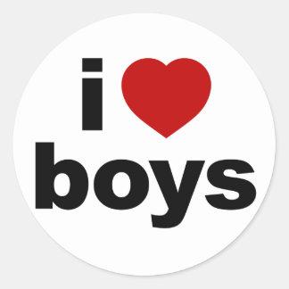 Amo al pegatina de los muchachos
