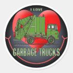 Amo al pegatina de los niños de los camiones de
